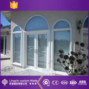 2017 modern price of glass louver round windows that open upv materials glass door in guangzhou
