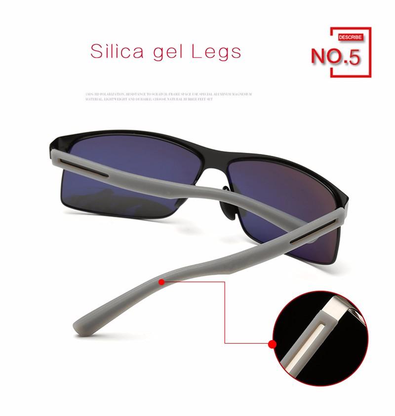Hot Driving Sunglasses Men Polarized Hd Vision Polaroid Womens Glasses With Silica Gel Legs And Original Box Kdeam Ce Apparel Accessories