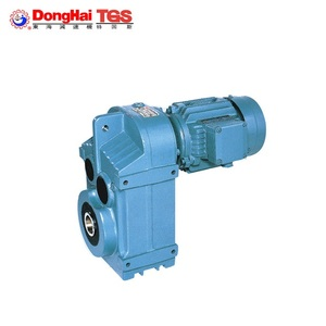 F series parallel helical gear motor parallel shaft helical speed reducer