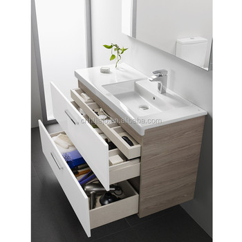 Bathroom Sink Quality high quality modern wall mounted bathroom vanity with side cabinet