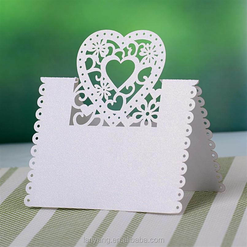 Cut out Bruiloft Verjaardag Kerst Tafel Decoratie Plaats Naamkaartjes Event u0026 party benodigdheden