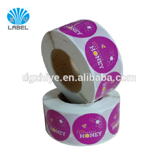 Printing Custom full color round Pvc Sticker Vinyl Sticker Paper Roll