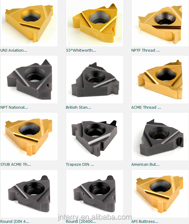 Various Types Carbide Threading Insert Iso Un Unj W Npt