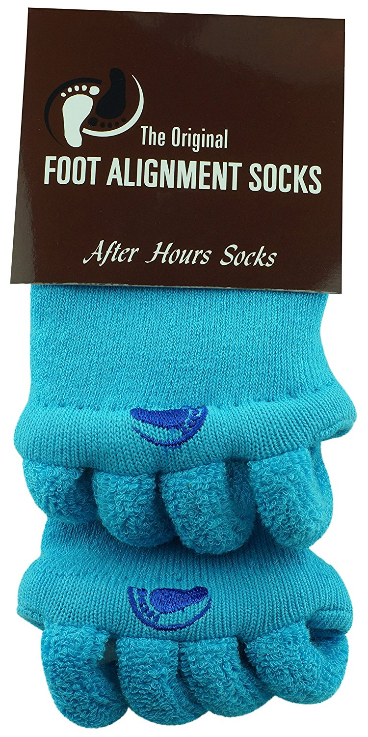 10d76b443e5 Get Quotations · Original Foot Alignment Socks Blue Happy Feet