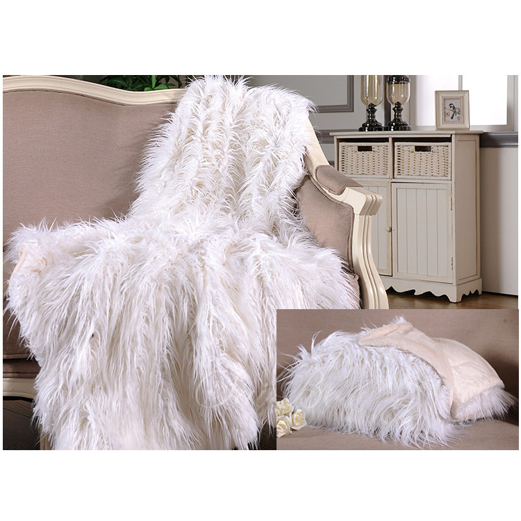 Sofa Custom Super Soft Faux Fur, Rajutan Selimut, Polyester Weighted Blanket