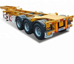 Heavy truck 40FT 45FT container trailer 3 axle skeleton semi trailer