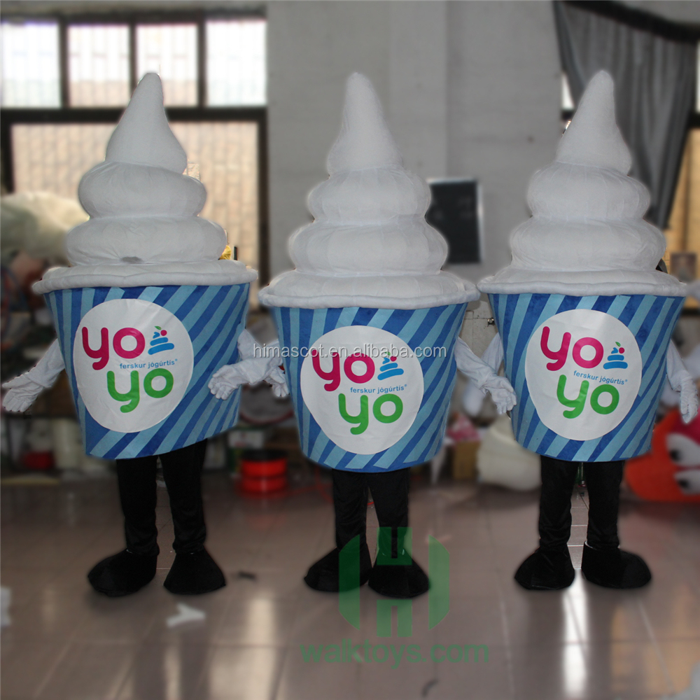 customized design ice cream cup mascot for adult use