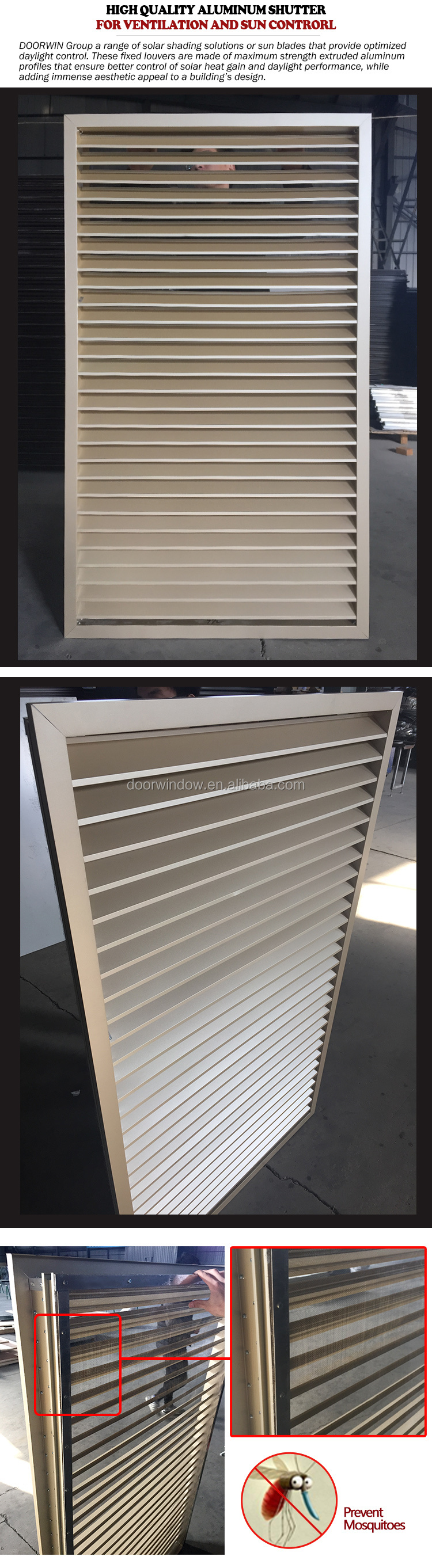 Operable louvers louver blades movable
