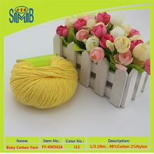 chinese pure spring cotton manufacturer smb hot sale oeko tex 100% cotton dyed yarn for hand knitting