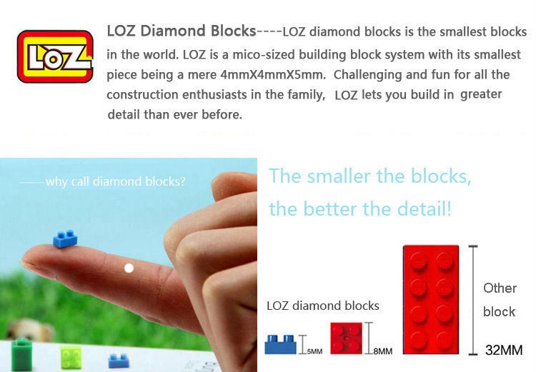 LOZ blocks, Mobile phone block case for iphone 6 plus