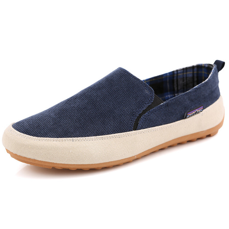 New 2015 Mens Canvas Shoes Casual Breathable Flats Shoes Slip On Casual Man Dress Shoe Sapatos Alpargatas Hombre Blue Size 38-43