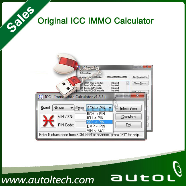 Original Icc Immo Calculator Can Calculate 4 Digit Pin Code For Nats ( Anti  Theft System) - Buy Car Key Programmer,Auto Key Programmer,Icc Immo Key