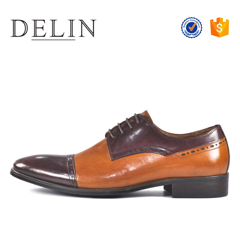 New hot sale genuine four leather shoes season men PranZP