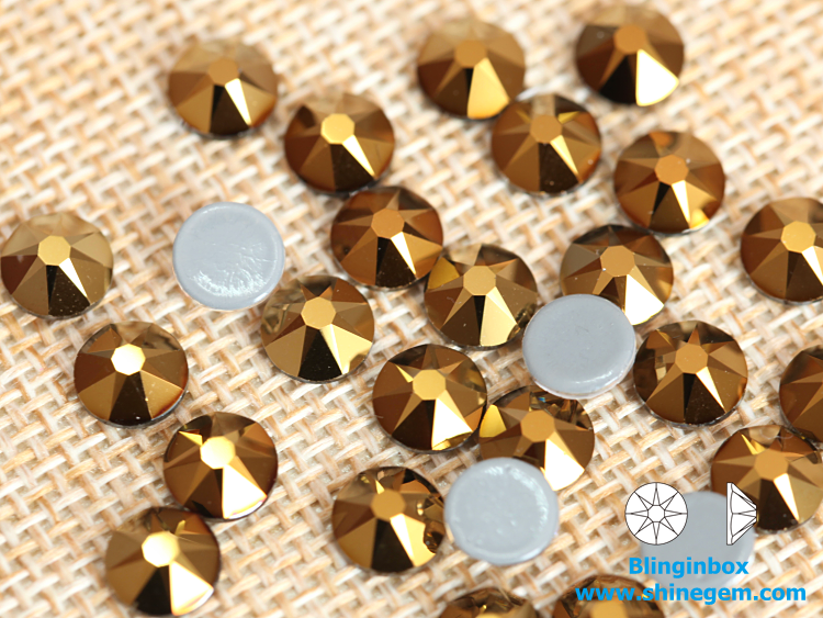 Factory wholesale price german exclusive glue16 cut facets glass hot fix rhinestones for women rompers