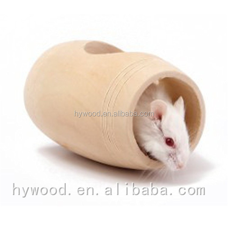 custom unfinished pine wooden hamster cage with hole , wood hamster house wholesale