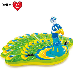 Huge size inflatable peacock pool floats inflatable island