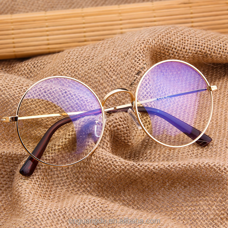 Top selling round glasses frame fashion new style eyewear frame women metal Carving Goggles men Oculos De Grau factory wholesale