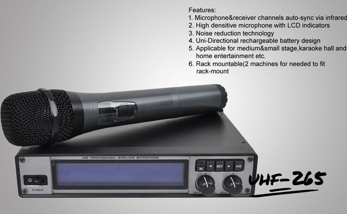 Ultrasonic Receiver Directional Microphone: Professional High Sensitive Uhf Wireless Microphone Uhf