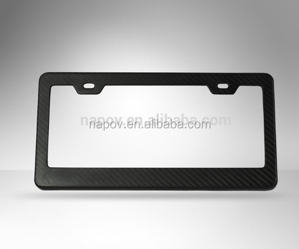 OEM Wholesale personality 100% carbon fiber car license plate frame