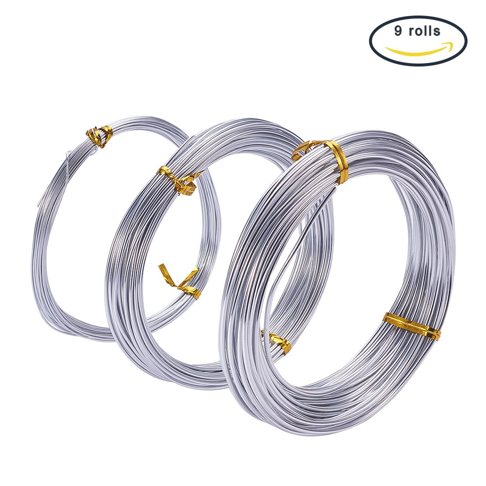 Cheap thick bendable wire find thick bendable wire deals on line at get quotations pandahall elite pack of 9 roll of 3 sizes aluminum silver craft wire 12 15 20 keyboard keysfo Images