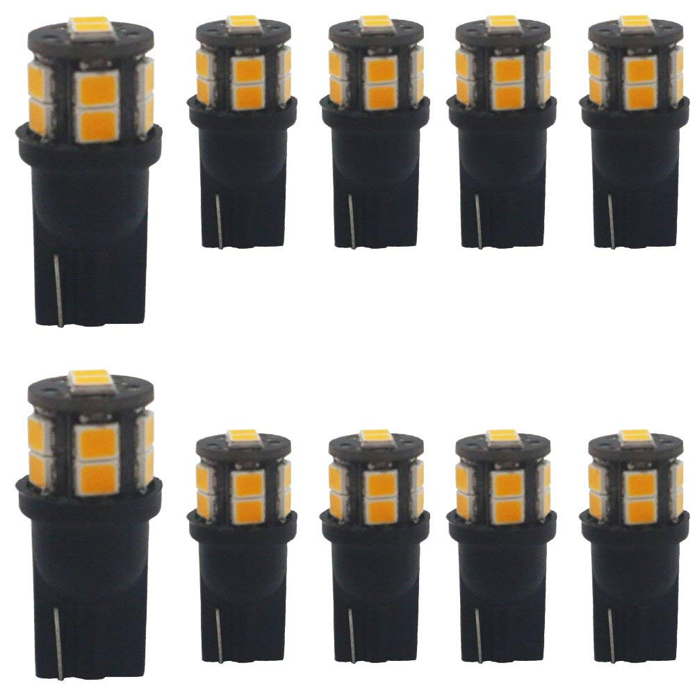 Cheap 12v 10w Amber Bulb Find Deals On Line At Led Smd Get Quotations 10 Pack T10 194 168 2825 175 W5w Yellow Extremely Bright