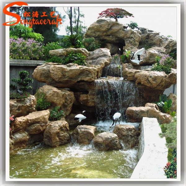 Chinois grande rocaille en fiber de verre cascades pierre naturelle bouddha jardin fontaine en - Prieel tuin leroy merlin ...