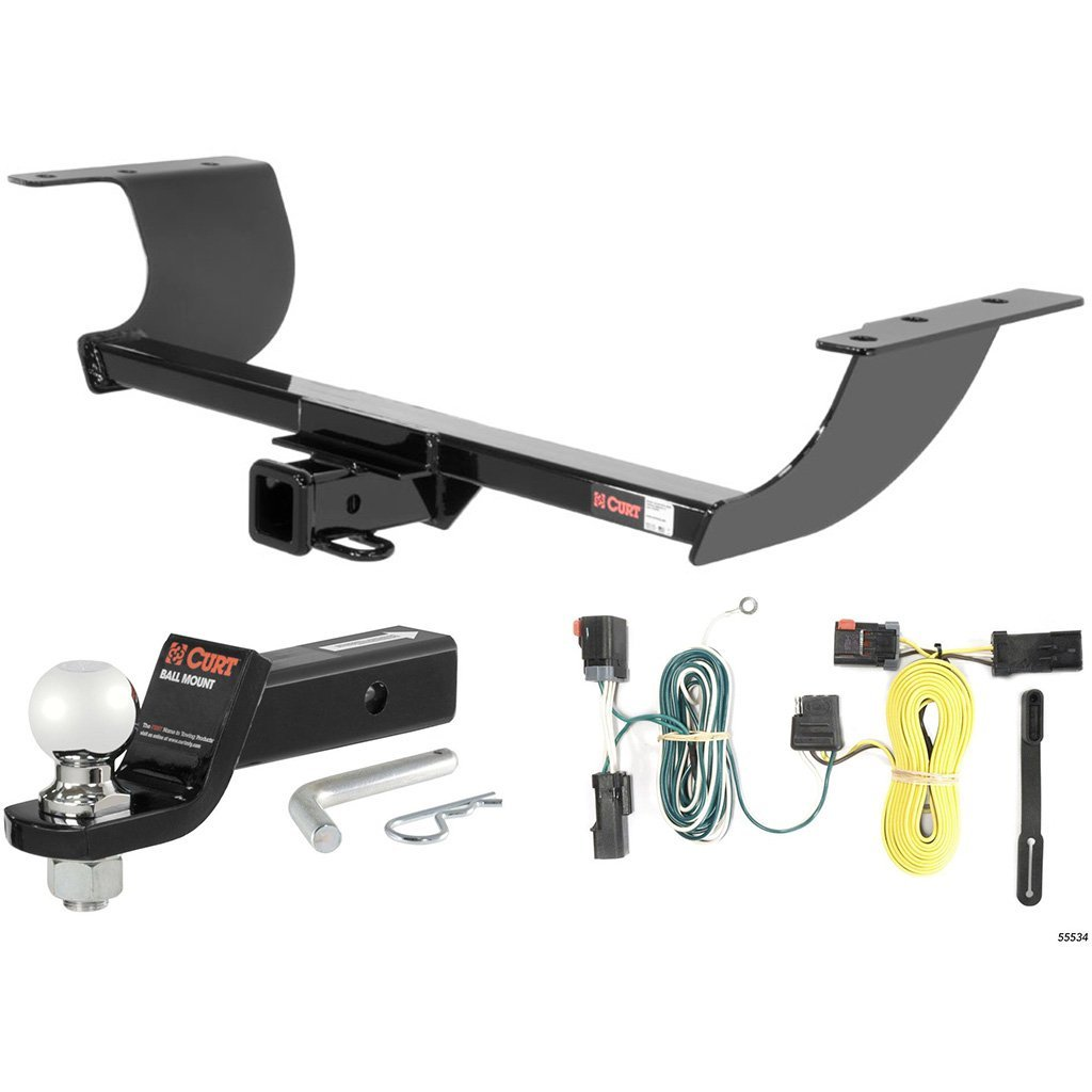 """CURT Class 3 Hitch Tow Package with 2-5/16"""" Ball for 2011-2014 Dodge Challenger"""