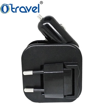 gift kit Universal Traveling 2 Port USB Wall Car Charger for Mobile Phone