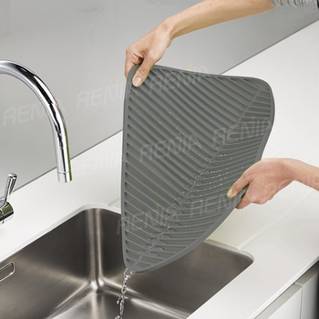 Renjia Rubber Kitchen Sink Mats Silicone Drainer