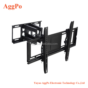 "Double Arm Articulating Cantilever TV Bracket Wall Mount with Tilt for 32""-56"" LCD LED Plasma Flat Panels - Heavy Gage Reinforce"