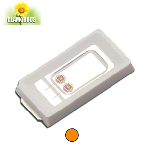 0.5W Power with orange Emitting Color led grow chip 600nm 605nm