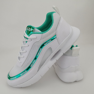 Custom Asia Famous light White Breathable Mesh Popular Women Sport Racing Athletic Shoes Gym sneakers