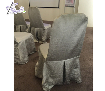 luxurious crush satin fabric fancy chair covers for wedding supplies