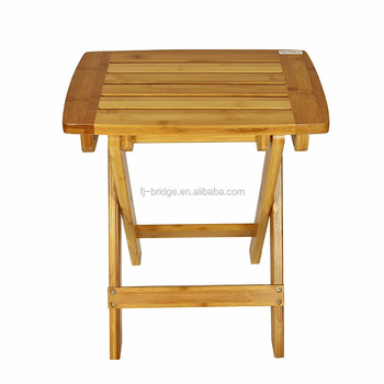 Multifunctional Bamboo Stool With Foldable Legs And Used For Picnic Fishing  Bathroom Garden (Natural)
