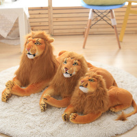 custom plush lying brown cute lion stuffed animal toy jumbo realistic lion