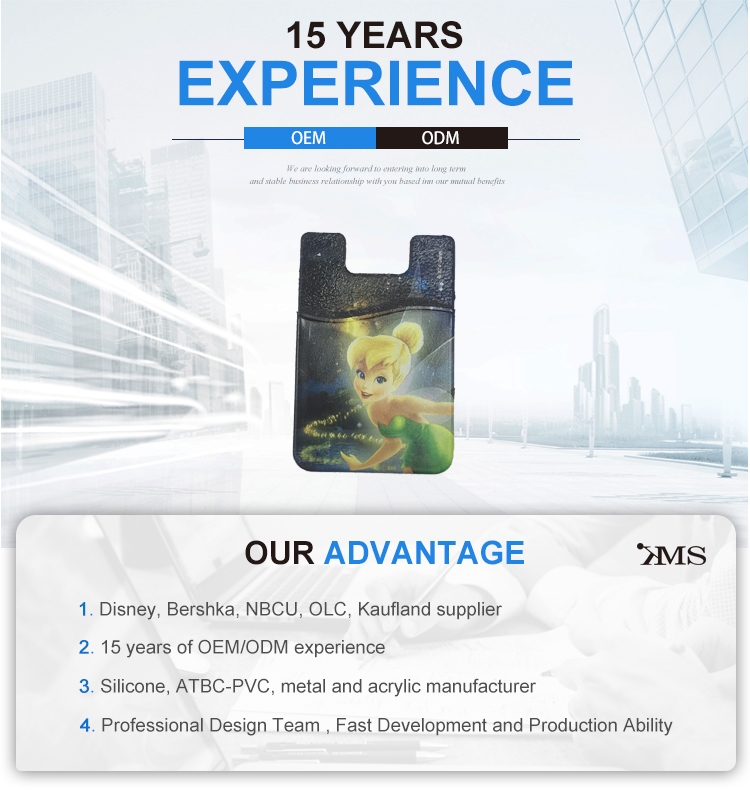 Silicone cartoon card holder silicone mobile phone card holder