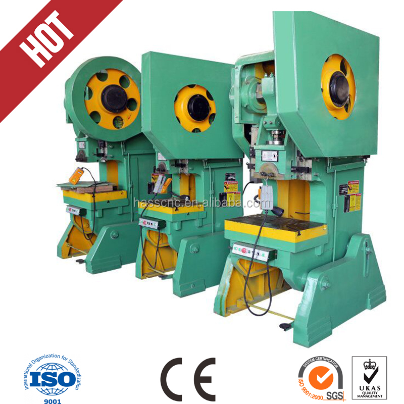J23-80T Steel Body Mechanical Power Press , punching Press CE&ISO, C type inclinable press