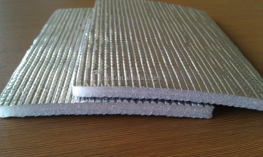 Aluminum Film Epe Foam Closed Cell Foam Carpet Underlay
