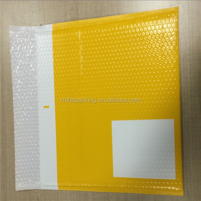 Printed Colorful Poly Bubble Mailer With White Write Part