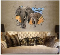 elephant animal 3d wallpapers/wall decoration/wall stickers