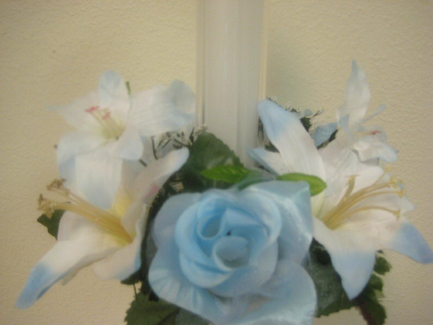 Cheap rose lily flower find rose lily flower deals on line at get quotations 3 lite blue rose lily candle rings center pieces artificial silk flower 3 693lbl izmirmasajfo