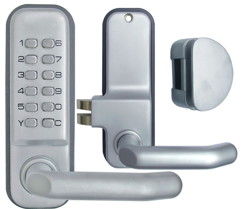 Decorating electronic keyless door lock pictures : OSPON MECHANICAL KEYPAD ENTRY KEYLESS GLASS DOOR LOCK OS219TL ...