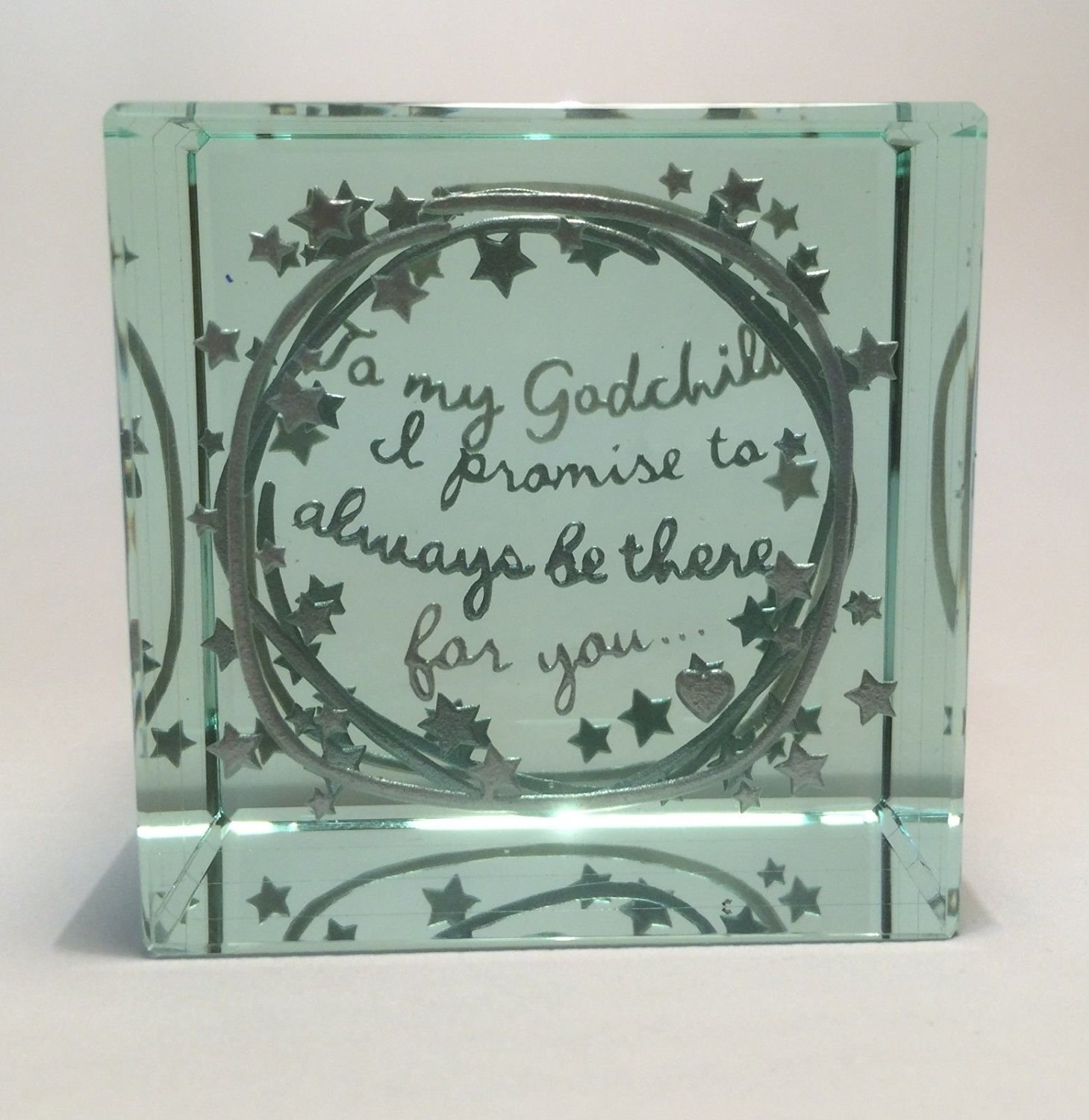 Spaceform Quality Layered Paperweight Christening Gift Ideas Godchild