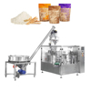 Full automatic rotary powder packing machine for zipper bag stand up bag with powder filling