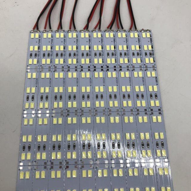 hot sale ! double line 5630 smd 144leds/m  led rigid strip 12v ip20 led bar light
