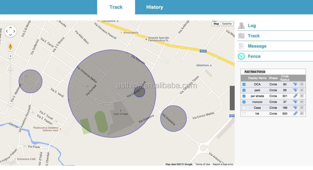 Web gebaseerde Real-time tracking en replay of lokaliseren via SMS lightbug gps tracker voor ziekenhuis