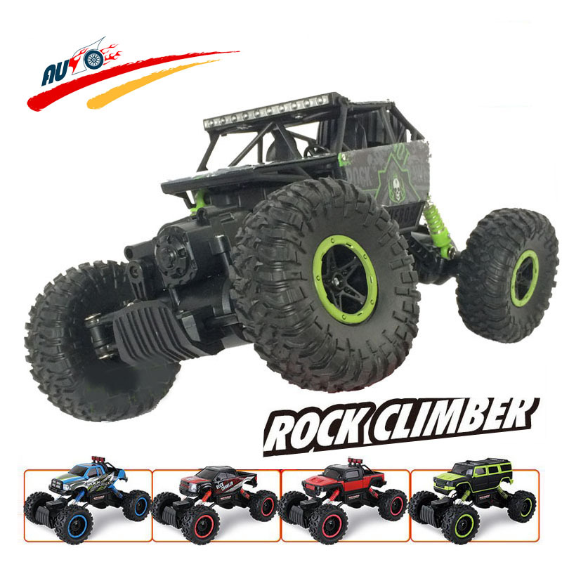 RC Car 2.4G 4CH 4WD Rock Crawlers 4x4 Driving Car Double Motors Drive Bigfoot  Car Remote Control Car Model Off-Road Vehicle Toy