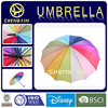 Auto open rainbow colour 14 panels straight umbrella