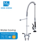 Factory Direct Deck Mount Double Hole Commercial Dishwasher Pre-rinse Faucet Chrome Kitchen Tap with Discount