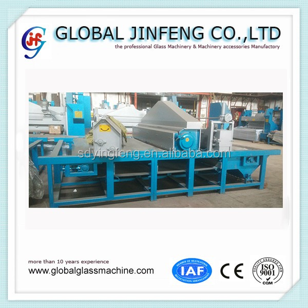 JFDS 2600 high speed horizontal automatic flat glass sandblasting machine for frosted glass